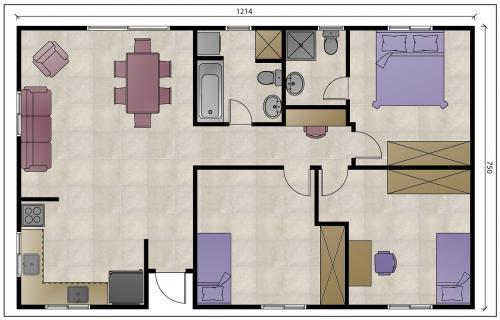 """מבנה נייד למגורים בגודל 90 מ""""ר עם פינת מחשב - ללא ממ""""ד"""
