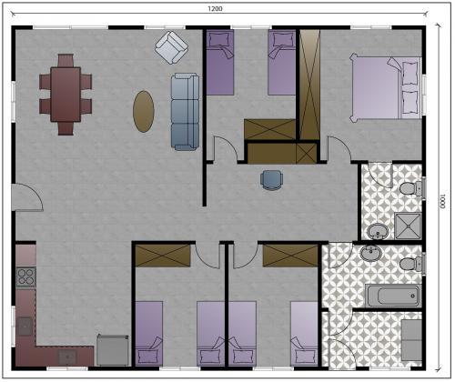 """תכנית מבנה למגורים בגודל 120 מ""""ר"""