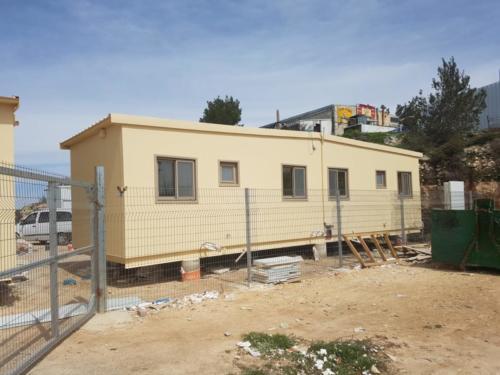 צילום מבנה מגורים לסטודנטים לאחר הצבה